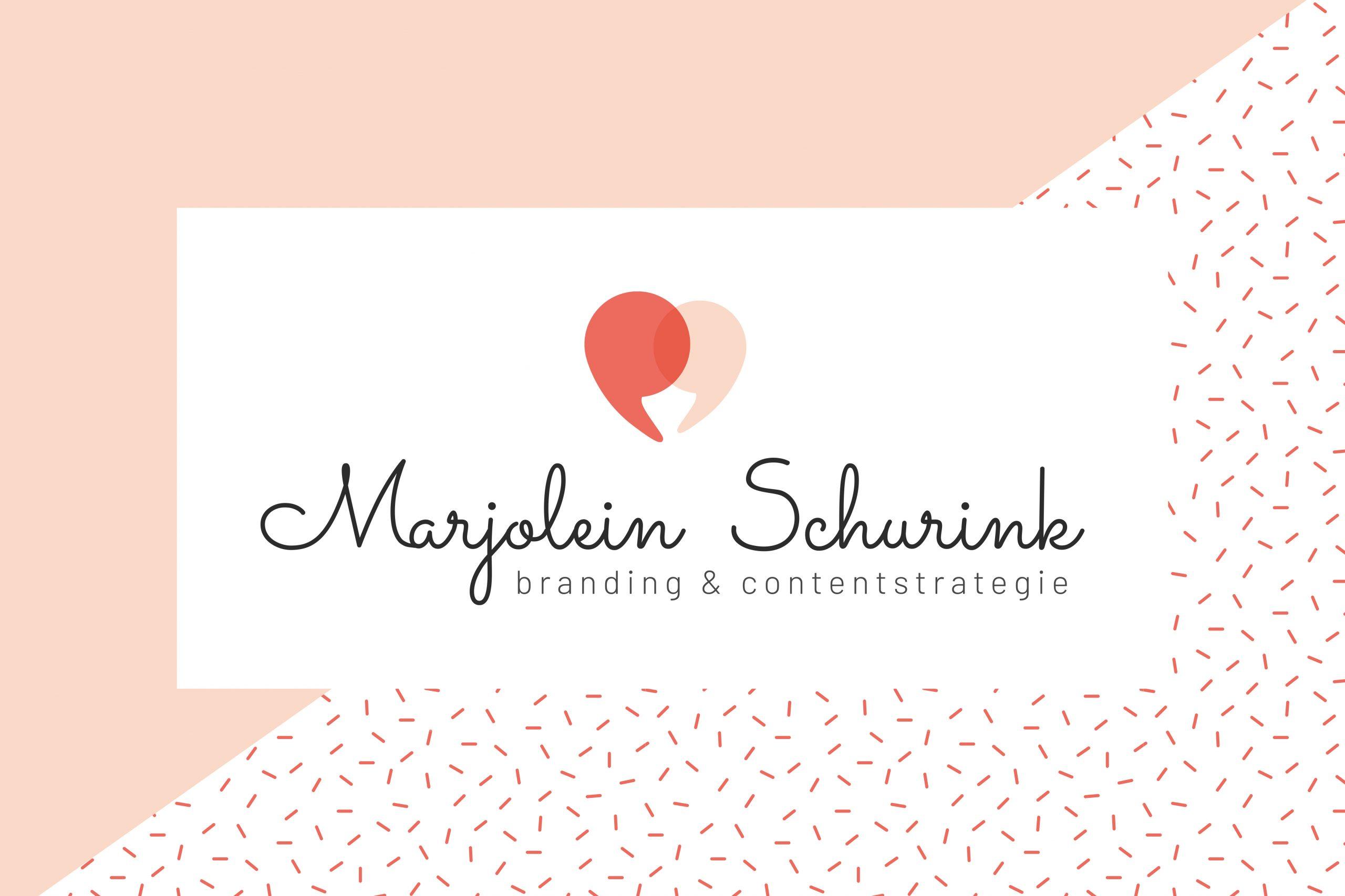 Logo en huisstijl Marjolein Schurink